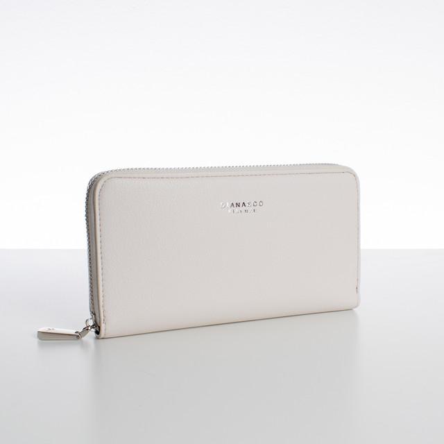Peňaženka - zipsová, koženková Diana, béžová