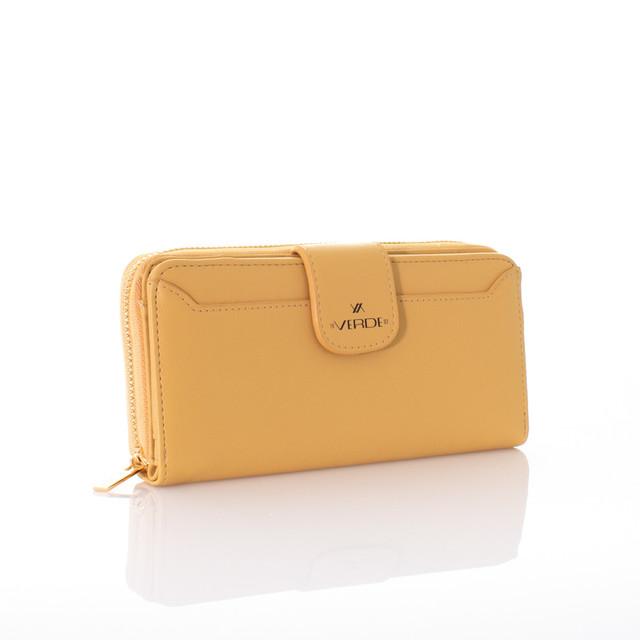 Peňaženka - koženková Verde žltá