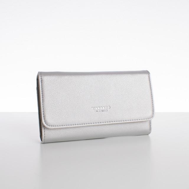 Peňaženka - veľká s cvokom Diana, strieborná