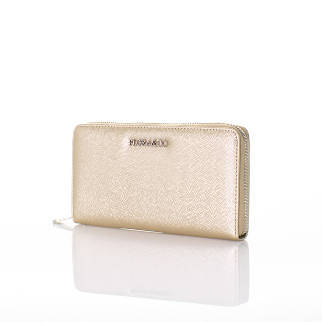 Peňaženka - Flora koženková zlatá