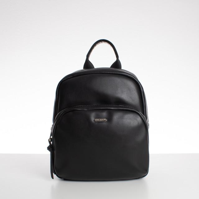 Ruksak - medium David Jones koženkový, čierny