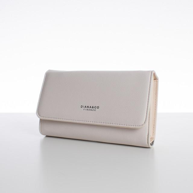 Peňaženka - veľká s cvokom Diana, béžová