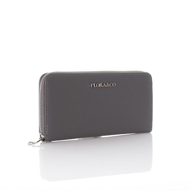 Peňaženka - Flora Saffiano šedá