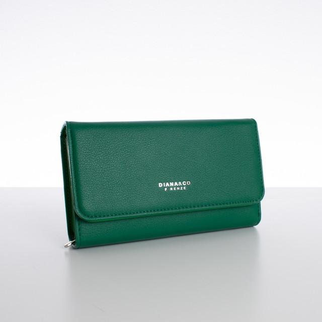 Peňaženka - veľká s cvokom Diana, zelená
