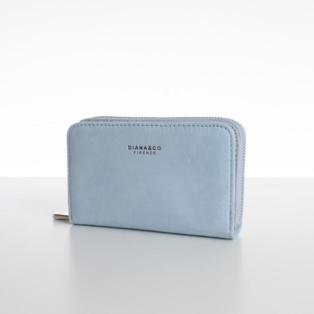 Peňaženka - medium semišová Diana, bledomodrá