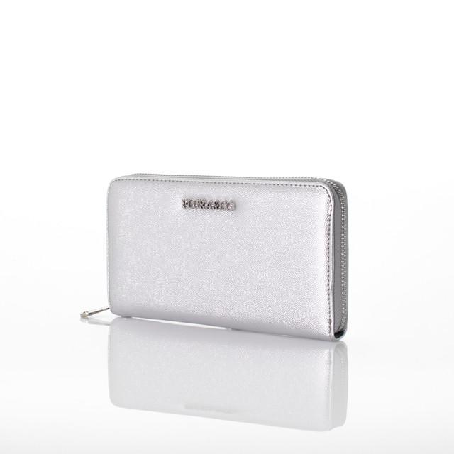 Peňaženka - Flora koženková strieborná