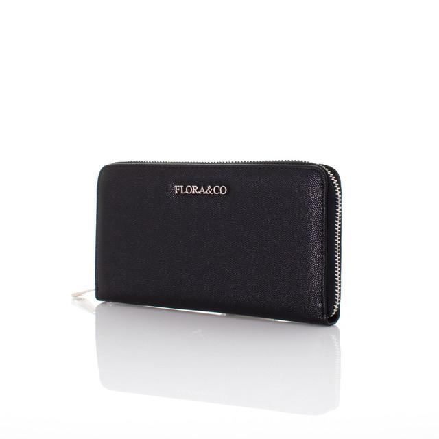 Peňaženka - Flora koženková čierna