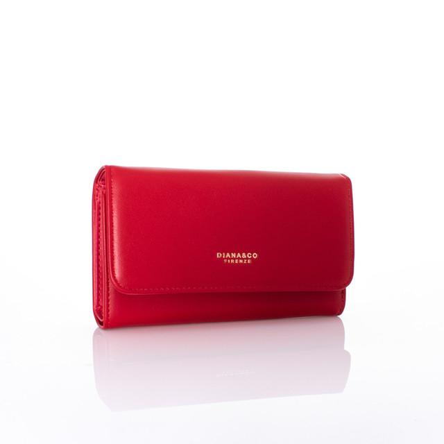 Peňaženka - autumn Diana koženková červená