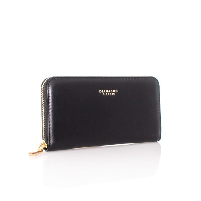 Peňaženka - Diana autumn na zips čierna