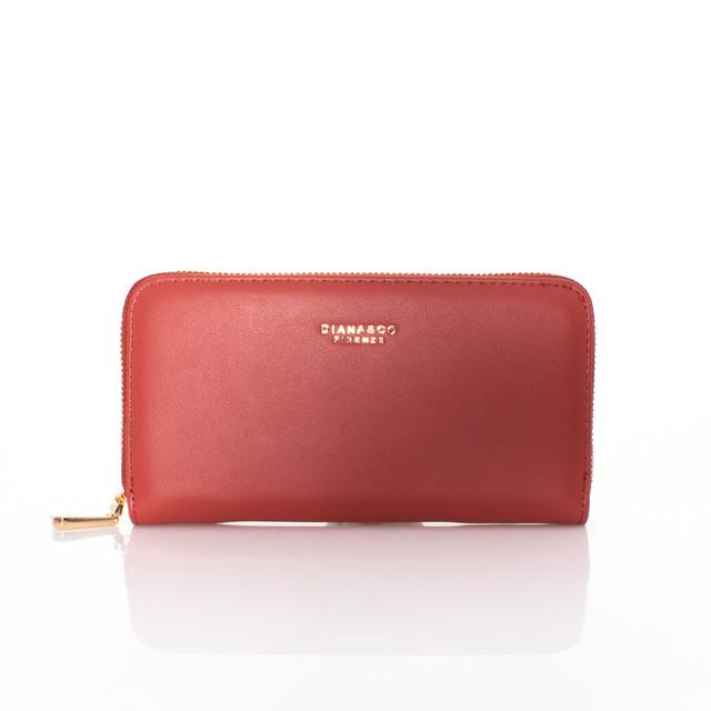 Peňaženka - Diana autumn na zips tehlová