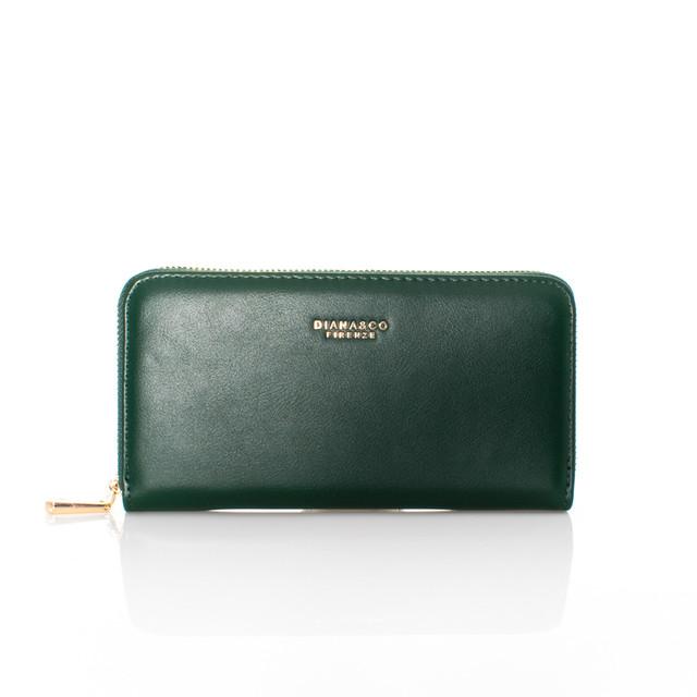 Peňaženka - Diana autumn na zips zelená