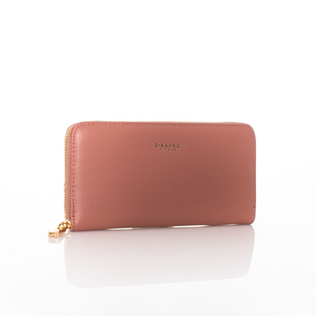 Peňaženka - Diana autumn na zips ružová