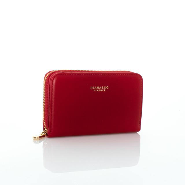 Peňaženka - stredná autumn Diana červená