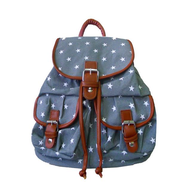Ruksak - hviezdičkový do školy šedý