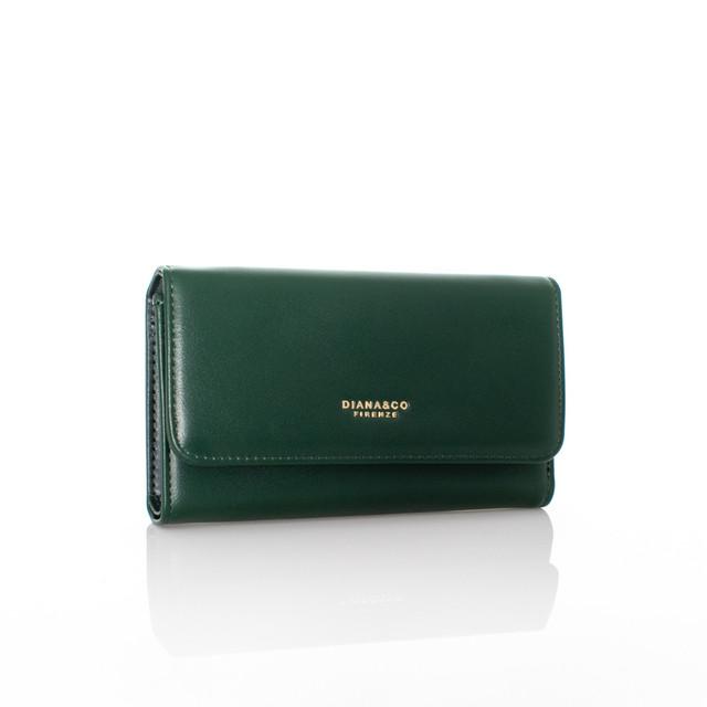 Peňaženka - autumn Diana koženková zelená