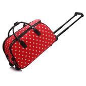 Cestovná taška - bodkovaná, červená