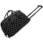 Cestovná taška - bodkovaná, čierna