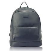Batoh - do školy - práce, štýlový, eko kožený, tmavomodrý