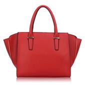Kabelka - dámska, grab, elegantná, červená