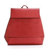 Batoh - do školy, eko kožený, s doplnkami, červený