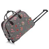 Cestovná taška - motýľová, veľká, šedá
