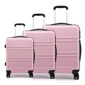 Set cestovných kufrov Ariel, ružový