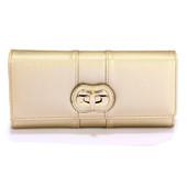 Peňaženka - eko kožená,s otočným zámkom, zlatá