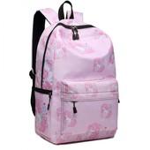Ruksak - školský s jednorožcami, dievčenský, ružový