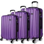 Set kufrov - tri kusy kufrov na cestovanie, unisex, fialové