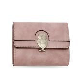 Peňaženka - so sova zámkom, malá, ružová