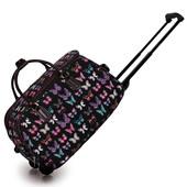Cestovná taška - cestovná, motýľová, čierna