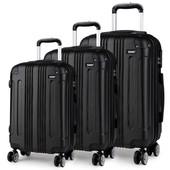 Set cestovných kufrov - pre rodinu, čierny