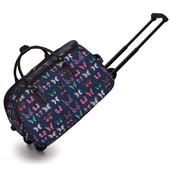 Cestovná taška - cestovná, motýľová, tmavomodrá
