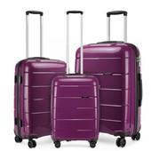 Set kufrov - unisex PP lesklý KONO na cesty, fialový