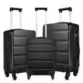 Set kufrov - rodinný set na cesty KONO, čierny