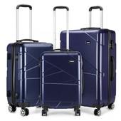 Set kufrov - KONO matný s doplnkami, tmavomodrý