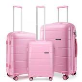 Set kufrov - unisex PP lesklý KONO na cesty, ružový