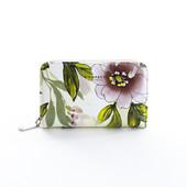 Peňaženka - kvetinová stredná Diana, béžová