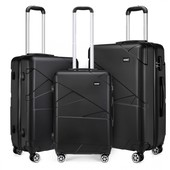 Set kufrov - matný čierny