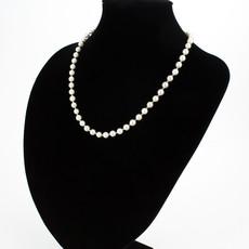 Náhrdelník - shell perlový, elegantný P6, biely