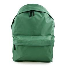 Ruksak - jednofarebný, na zips, zelený