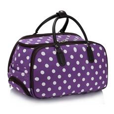 Cestovná taška - bodkovaná, fialová