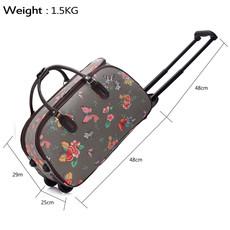 Cestovná taška - motýľová, látková, šedá