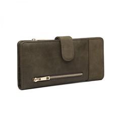 Peňaženka - eko kožená, na karty, zelená