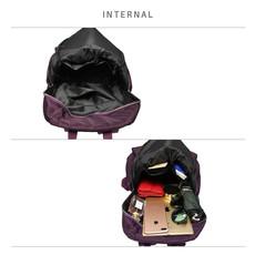 Batoh - vybíjaný, štýlový, eko kožený, fialový
