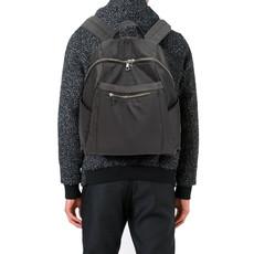 Batoh - vybíjaný, štýlový, eko kožený, šedý