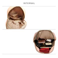 Batoh - vybíjaný, štýlový, eko kožený, ružový