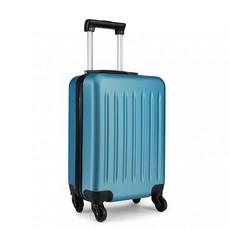 Set kufrov - rodinný, plastový, cestovný, modrý