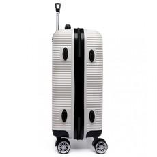 Kufor - vrúbkový, na cestovanie, praktický, biely