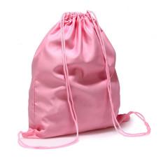 Batoh - mäkký, sťahovací, látkový, ružový